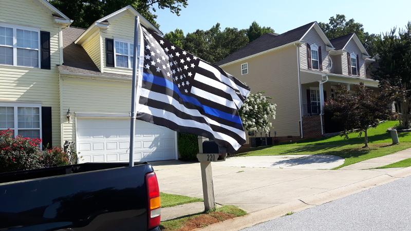 Foto einer Fahne