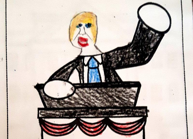 Zeichnung von Trump