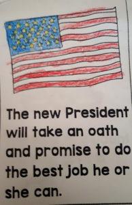 Foto der amerikanischen Flagge