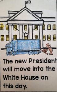 Foto von Umzugswagen vor dem Weißen Haus