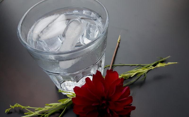 Foto von einem Glas Wasser
