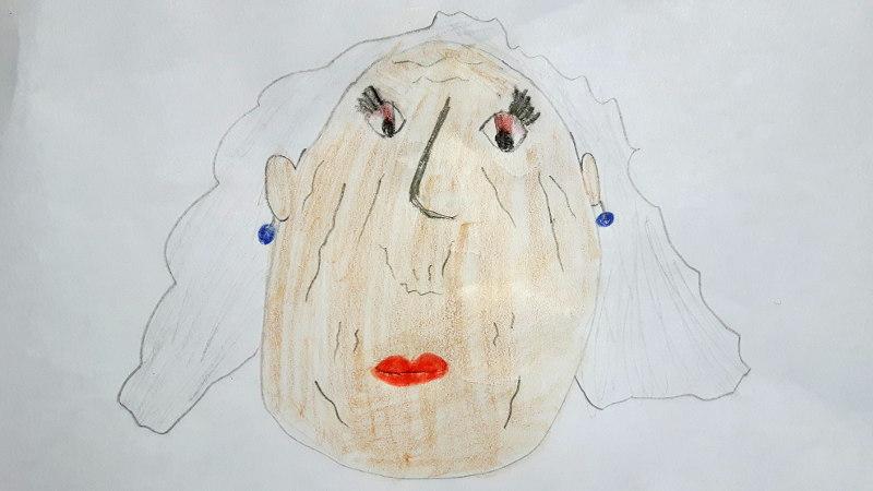 Zeichnung von Margaret