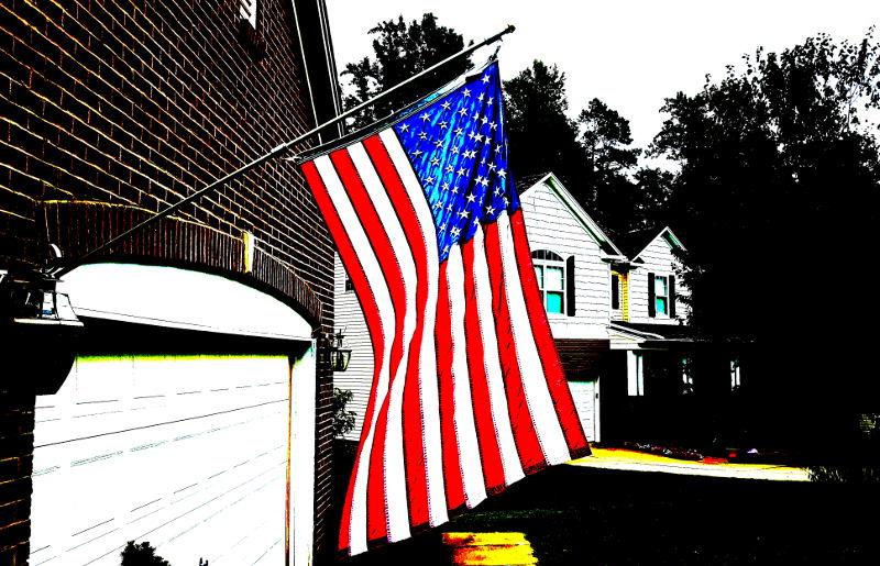 Foto einer amerikanischen Flagge