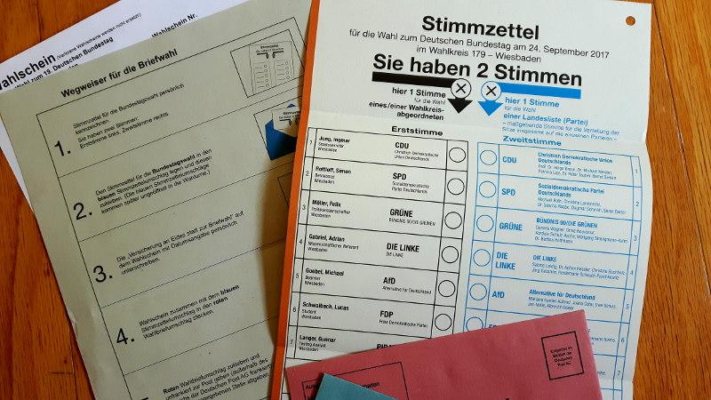 Foto von Wahlunterlagen