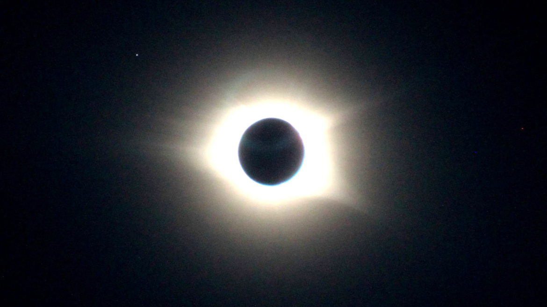 Foto von der Sonnenfinsternis