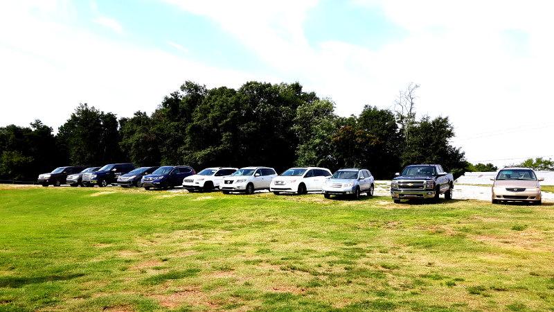 Foto von großen Autos