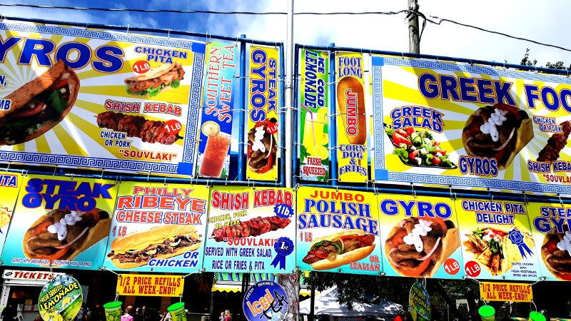 Foto von Fast Food Gerichten