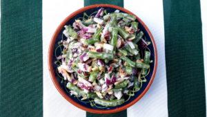 Zutaten von Bohnensalat
