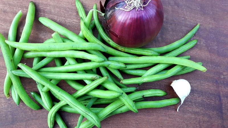 Foto von Zutaten für Bohnensalat