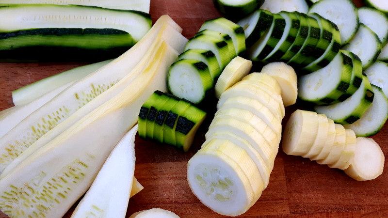 Foto von Zucchini und Squash