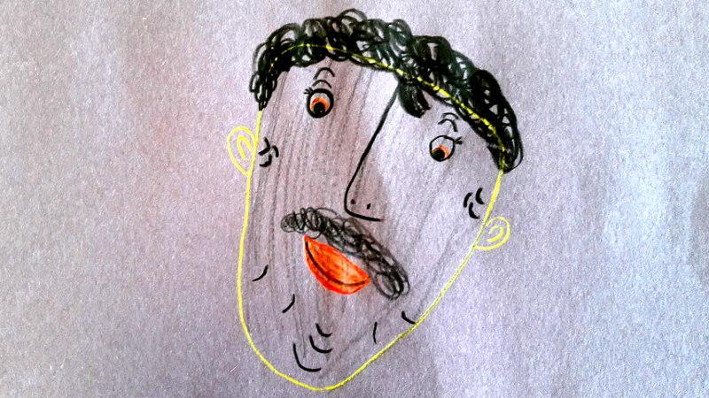 Zeichnung von Father Johnson