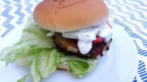 Foto von einem Garnelenburger