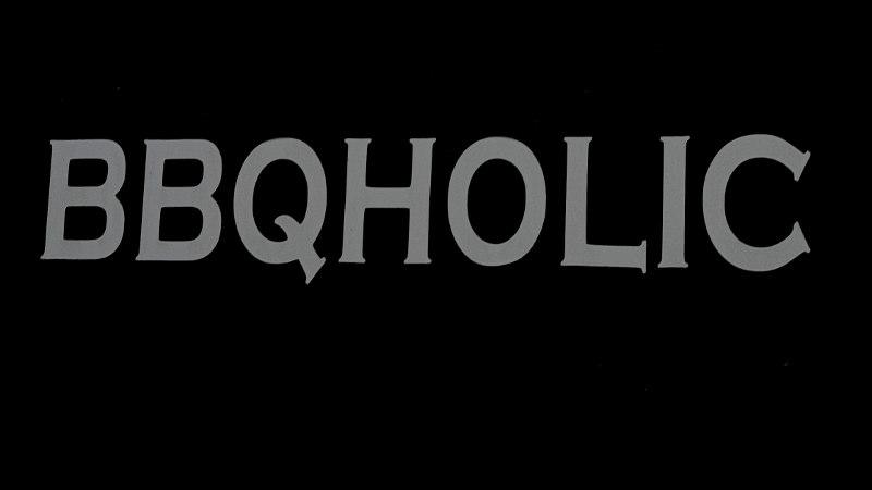 Foto mit Aufschrift BBQHolic
