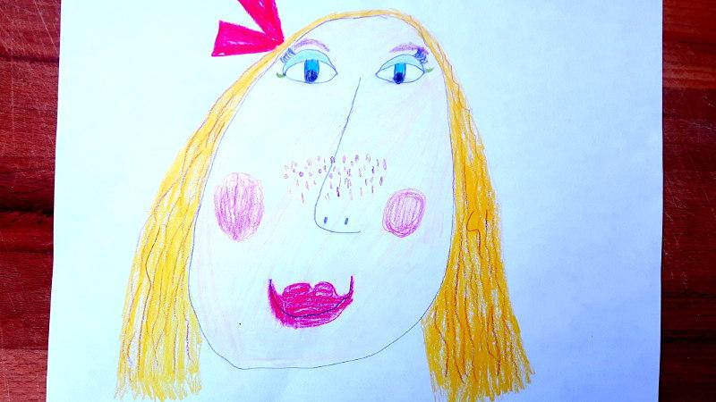 Zeichnung von Ava