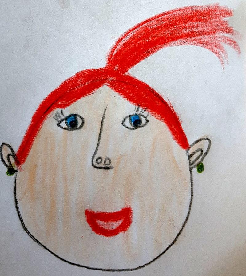 Zeichnung von Lila