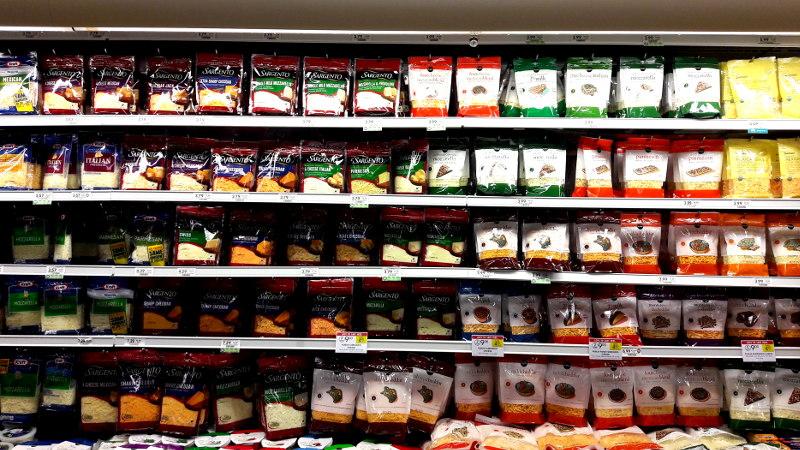 Foto von Käsetheke im Supermarkt