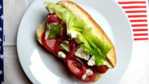 Foto von Greek Style Hot Dog