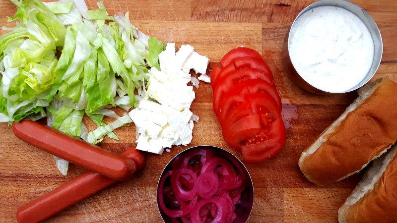 Foto von Hotdog-Zutaten