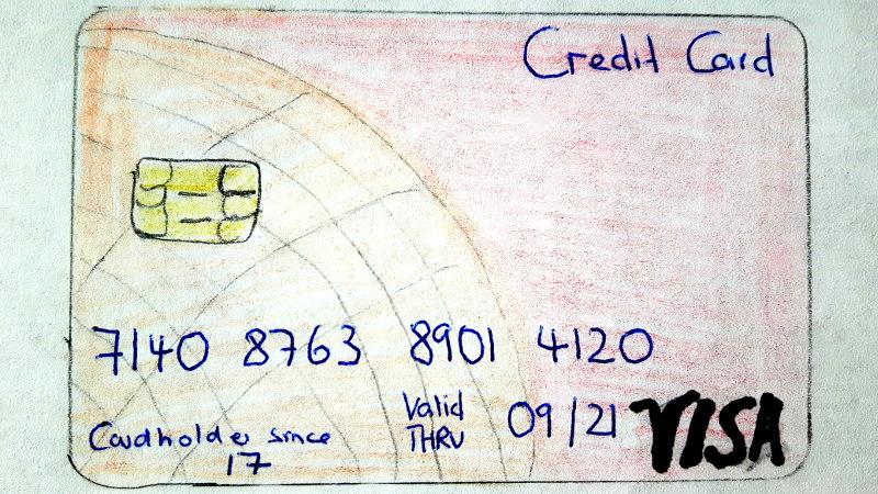 Foto von Kreditkartenzeichnung