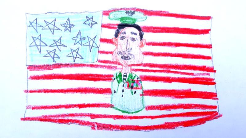 Zeichnung von David