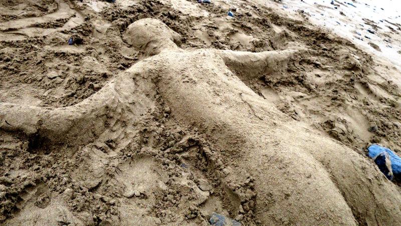 Foto von Sandfrau