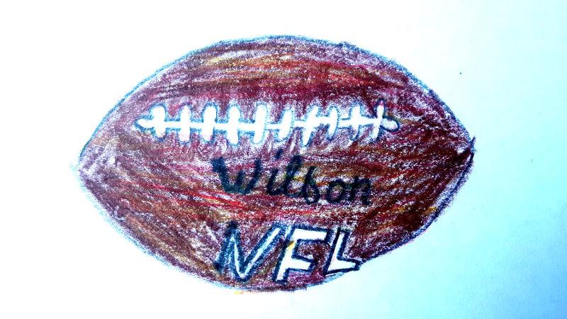 Zeichnung von Football